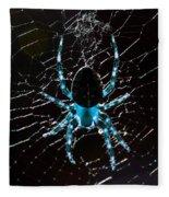 Blue Spider Fleece Blanket