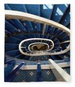 Blue Spiral Stairsway Fleece Blanket