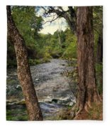 Blue Spring Branch Fleece Blanket