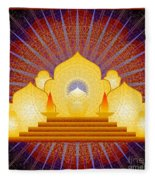 Blue Sun Temple 2012 Fleece Blanket