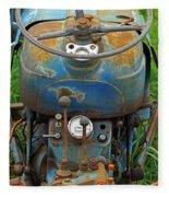 Blue Tractors Driver's Seat Fleece Blanket