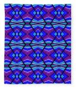 Blue Turquoise And Purple Fleece Blanket