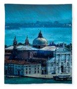 Blue Venice Fleece Blanket