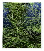 Blue Water Green Grass Glacier National Park Fleece Blanket