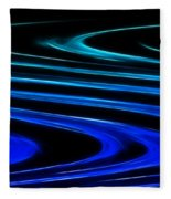 Blue Waves Fleece Blanket