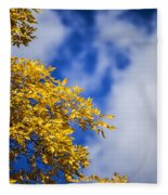 Blue White And Gold Fleece Blanket