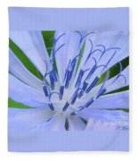 Blue Wild Flower Fleece Blanket