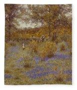 Bluebell Copse Fleece Blanket