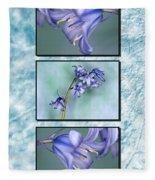 Bluebell Triptych Fleece Blanket