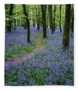 Bluebell Wood, Near Boyle, Co Fleece Blanket