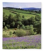 Bluebells In A Field, Sally Gap, County Fleece Blanket