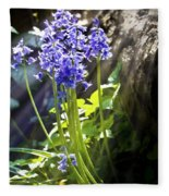Bluebells In The Woods Fleece Blanket