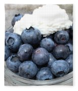 Blueberries And Cottage Cheese Fleece Blanket