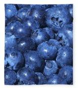 Blueberries With Waterdrops Fleece Blanket