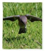 Bluebird In Flight Fleece Blanket