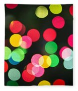 Blurred Christmas Lights Fleece Blanket