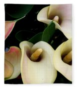 Blushing Calla Lilies Fleece Blanket