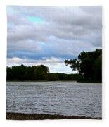 Blustery River  Fleece Blanket