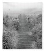 Boardwalk In Quogue Wildlife Preserve Fleece Blanket