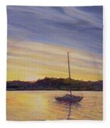 Boat At Rest Fleece Blanket