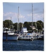 Boat Harbor In Dunkirk New York Fleece Blanket