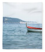 Boat In The Water Fleece Blanket