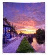 Boat Inn Sunrise 1.0 Fleece Blanket