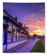Boat Inn Sunrise 2.0 Fleece Blanket