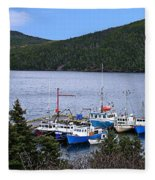 Boat Lineup Fleece Blanket