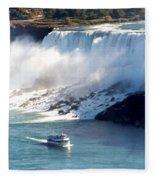 Boat On Niagara Falls Fleece Blanket