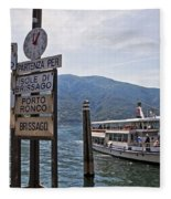 Boat Trip On Lake Maggiore Fleece Blanket