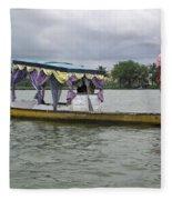 Boatman Taking A Couple Out On A Shikhara Fleece Blanket