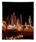 Boats Lighted Fleece Blanket
