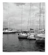 Boats Meeting Fleece Blanket