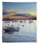 Boats On The Water Fleece Blanket