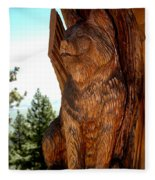 Bobcat Sentinel Fleece Blanket