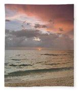 Boca Grande Florida Sunset Fleece Blanket