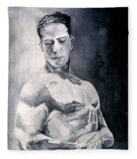 Body Building Fleece Blanket