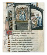Boethius (c480-524) Fleece Blanket