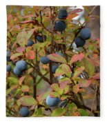 Bog Bilberry Fleece Blanket