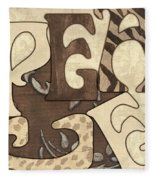 Bohemian Peace Fleece Blanket