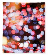 Bokeh Fleece Blanket