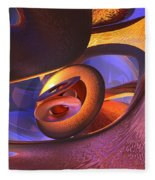 Bold Contagion Abstract Fleece Blanket