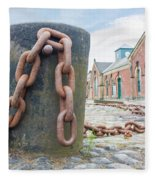 Bollard And Chain Fleece Blanket
