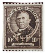 Booker T Washington Postage Stamp Fleece Blanket