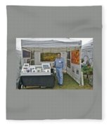 Booth At Saint Clair Shores Fleece Blanket