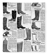 Boots Advertisement, 1895 Fleece Blanket