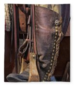 Boots Of A Drover Fleece Blanket