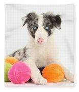 Border Collie Pup Fleece Blanket