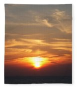 Bosphorus Sunset Marmara Sea Fleece Blanket